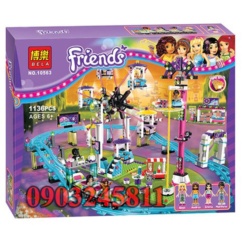 Đồ chơi Lego Friends Công viên giải trí tầu lượn siêu tốc 1136 chi tiết - BELA 10563