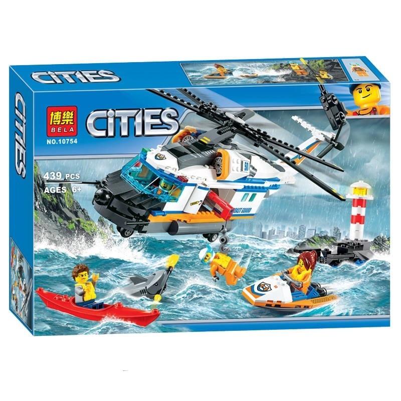 Lắp ráp Lego City máy bay cứu hộ 439 miếng ghép - Bela 10754