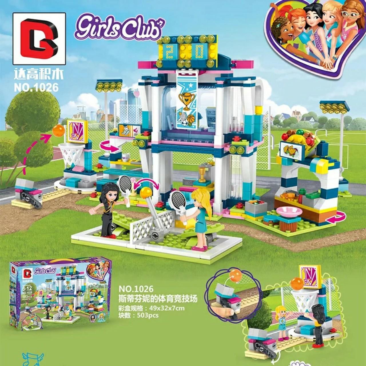 Lego Friends đấu trường thể thao của stephanie - BG build 1026