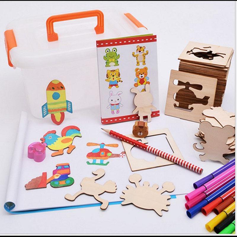 Bộ khung gỗ tập vẽ và tô màu cho bé