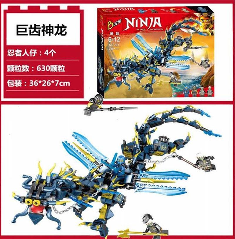 Lắp ráp Ninja Rồng Xanh Băng Giá - Boshi 294
