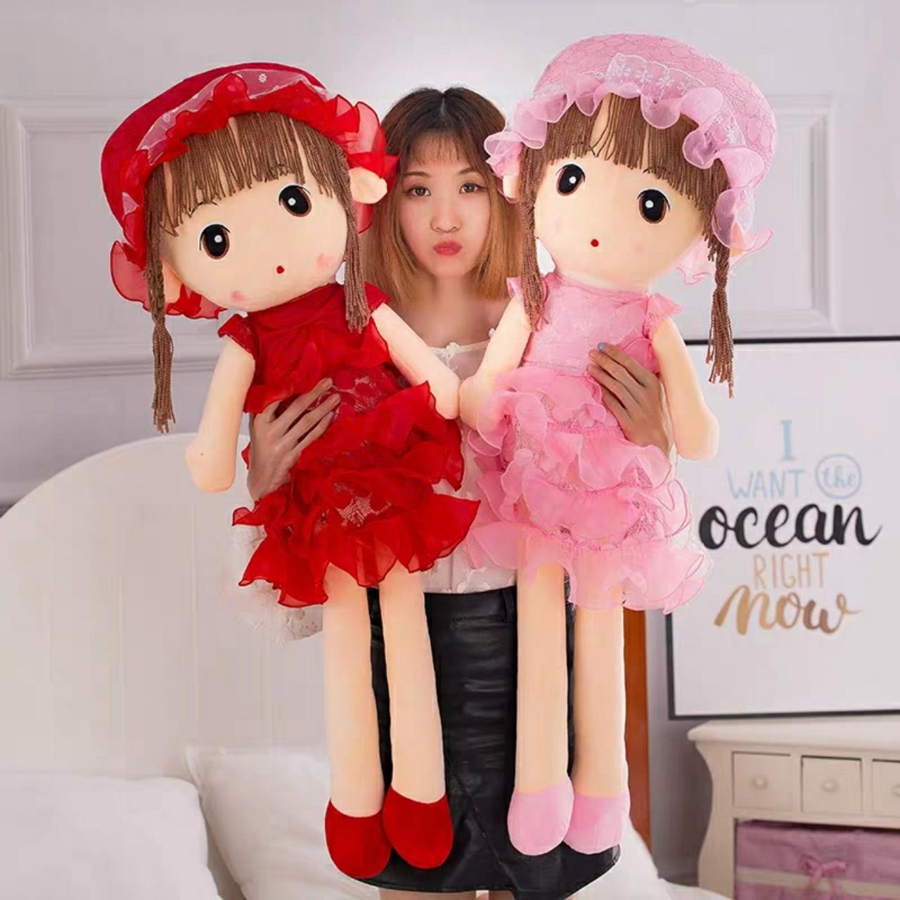 Búp bê nhồi bông mặc váy - 80 cm