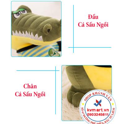 Thú bông cá sấu ngồi