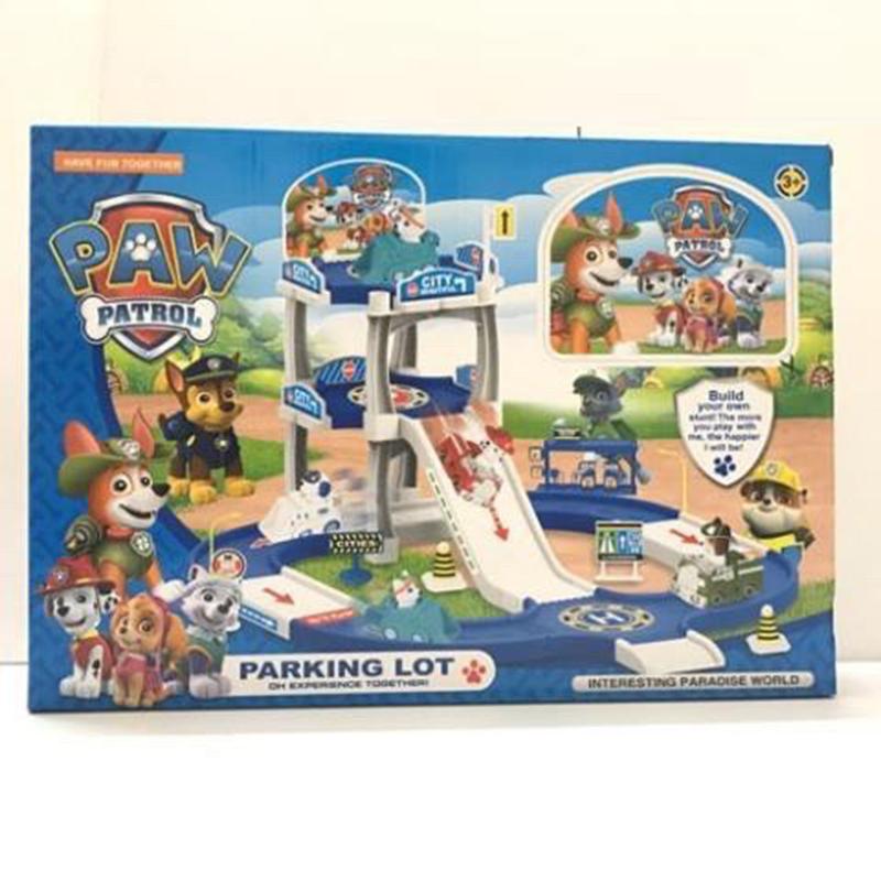 Đồ chơi mô hình biệt đội 4 chú chó cứu hộ parking lot - ZY675