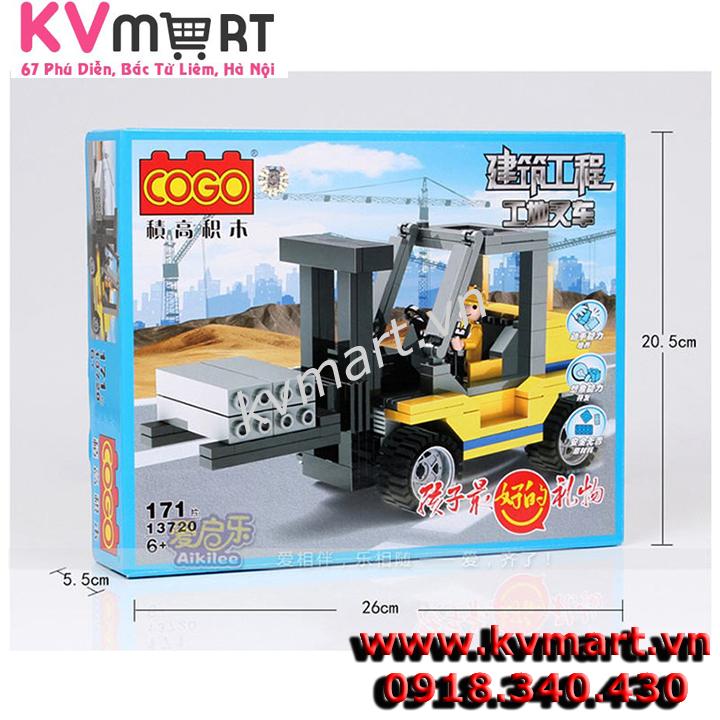 lego xe nâng hàng - CoGo 13720