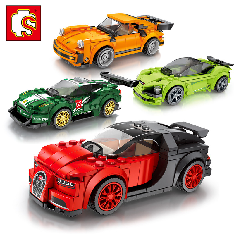 Combo 4 hộp Lego Xe đua FAMOUS CAR - SEMBO BOOK