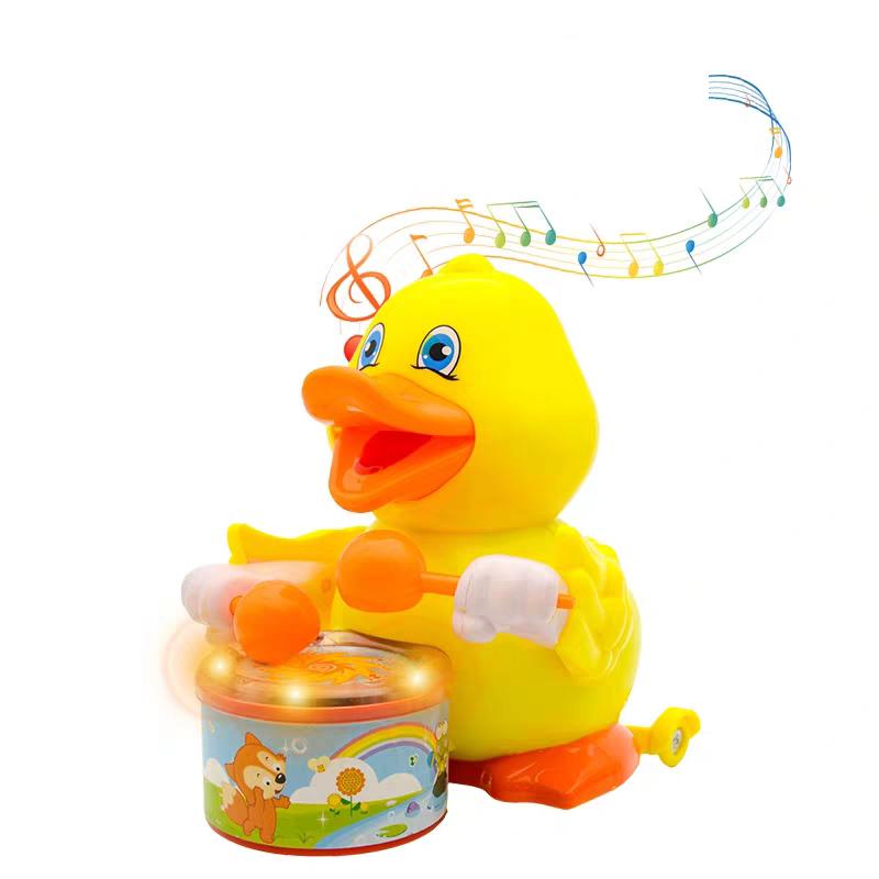 Đồ chơi đàn vịt mẹ con đánh trống phát nhạc-  4422