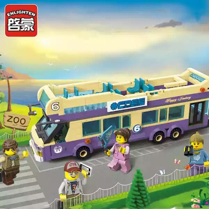 lego xe bus 2 tầng - enlighten 1123