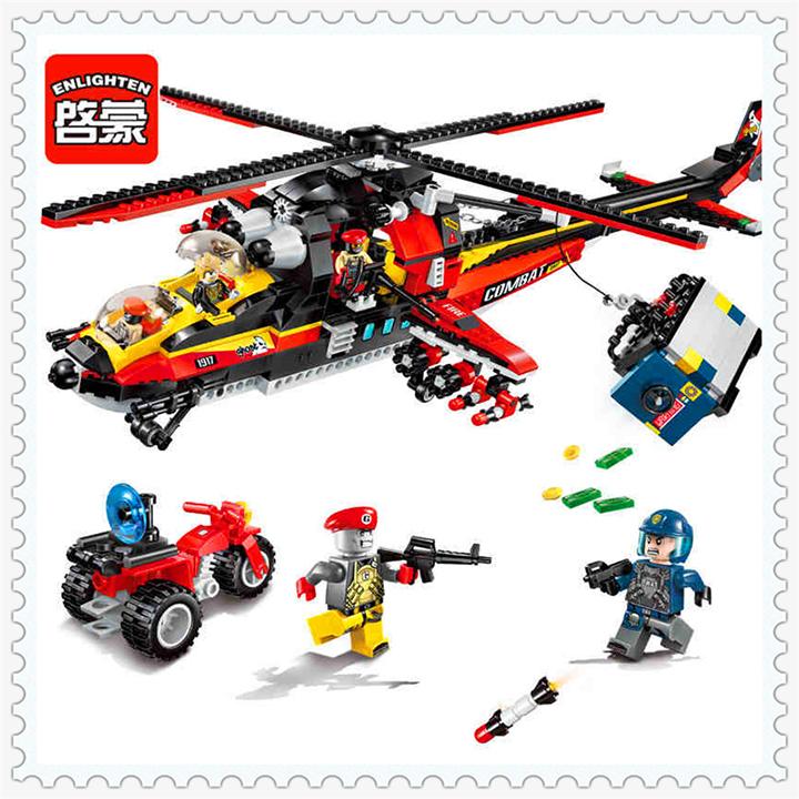 Lego máy bay trực thăng cảnh sát - enlighten 1917