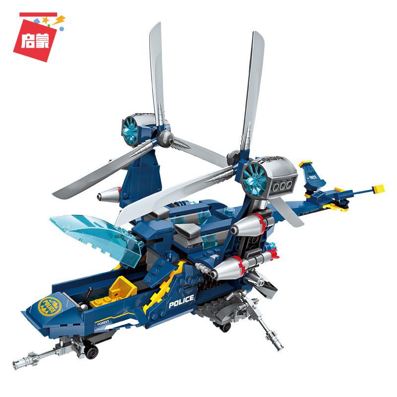 Lắp ráp Lego City máy bay cảnh sát bảo vệ rừng 402 miếng ghép - Enlighten 1922
