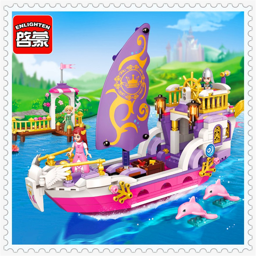Láp Ráp Lego Du Thuyền Của Công Chúa LEAD 456 chi tiết - ENLIGHTEN 2609