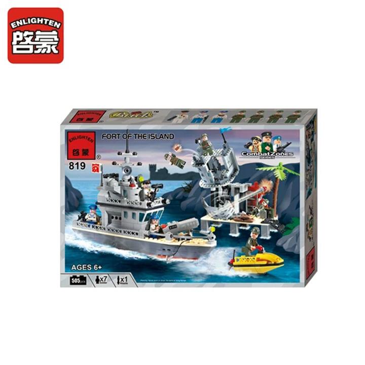 Lego tàu cảnh sát biển - enlighten 819