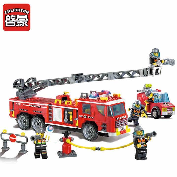 Lego xe cứu hỏa - enlighten 908