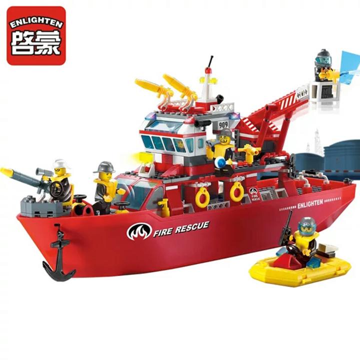 Lego thuyền cứu hỏa - enlighten 909