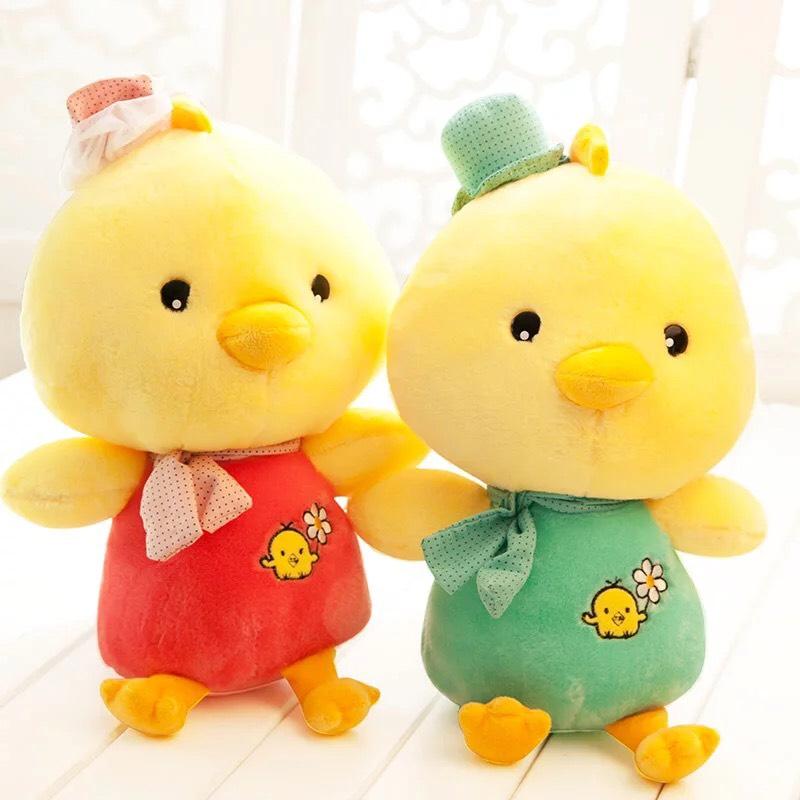 Bộ đôi gà con dễ thương nhồi bông - size 30cm