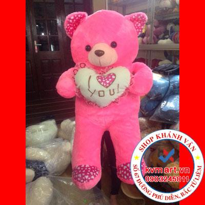 Gấu Hồng Đứng 105cm