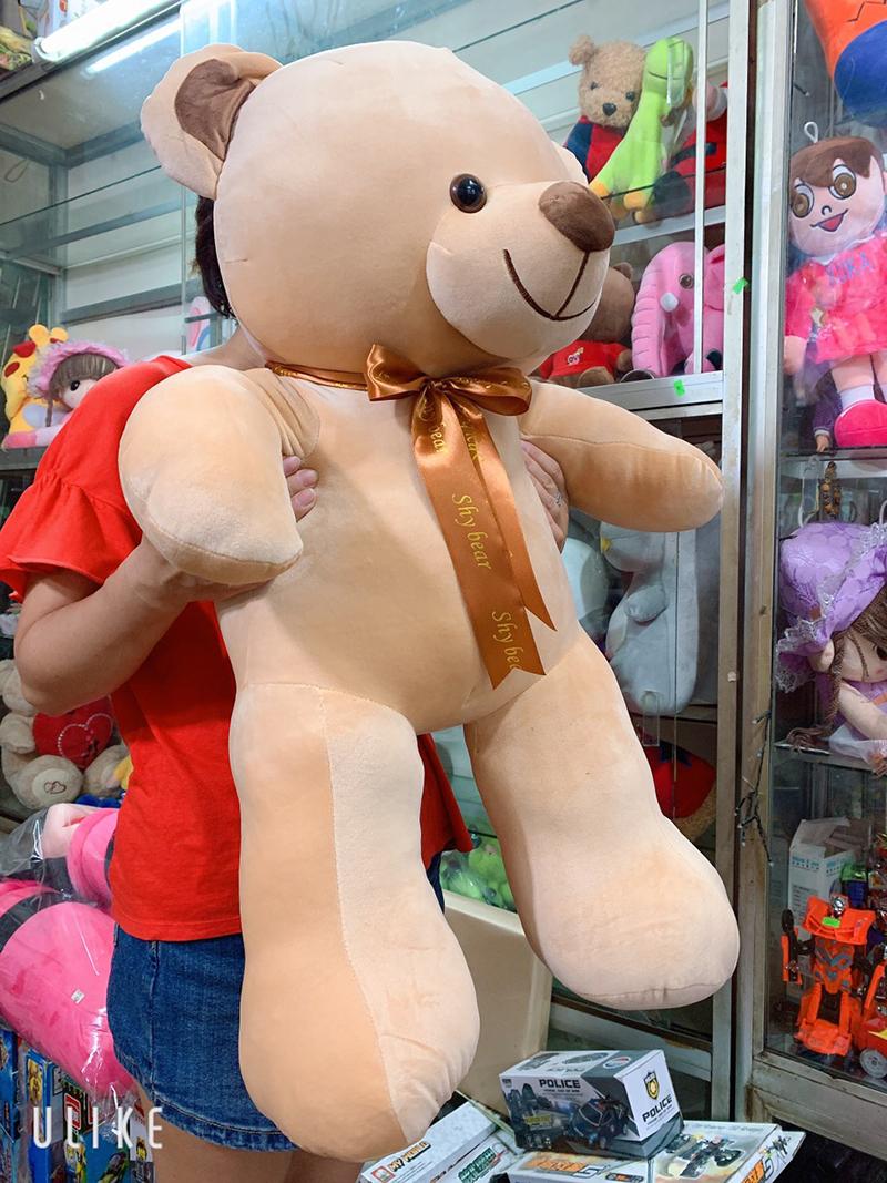 Gấu teddy dáng đứng thắt nơ khổ 80cm