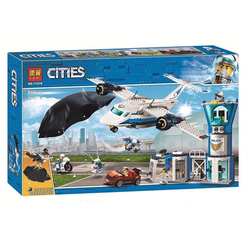 Lắp ráp Lego City máy bay cảnh sát 559 miếng ghép - LARI 11210
