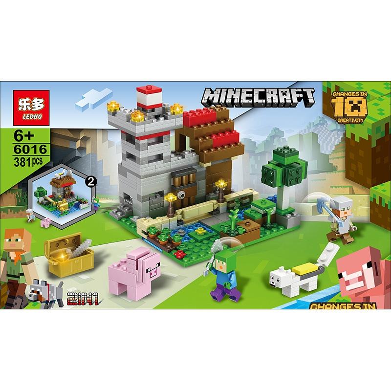Lắp ráp Lego Minecaft 381miếng ghép - LEDUO 6016