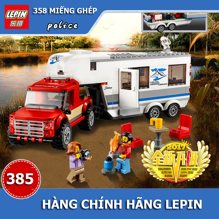 Lego xe du lịch dã ngoại - lepin 02093