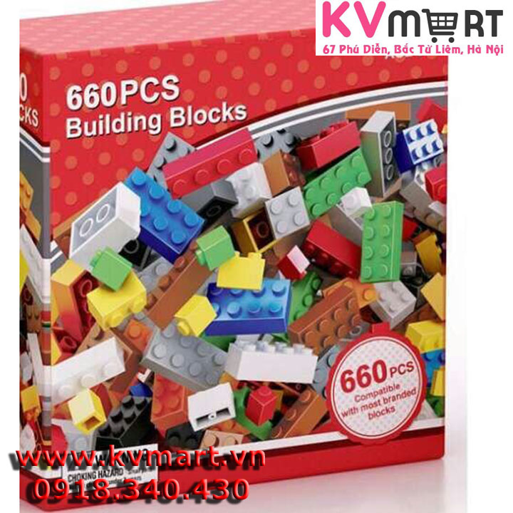 Bộ lego 660 miếng ghép