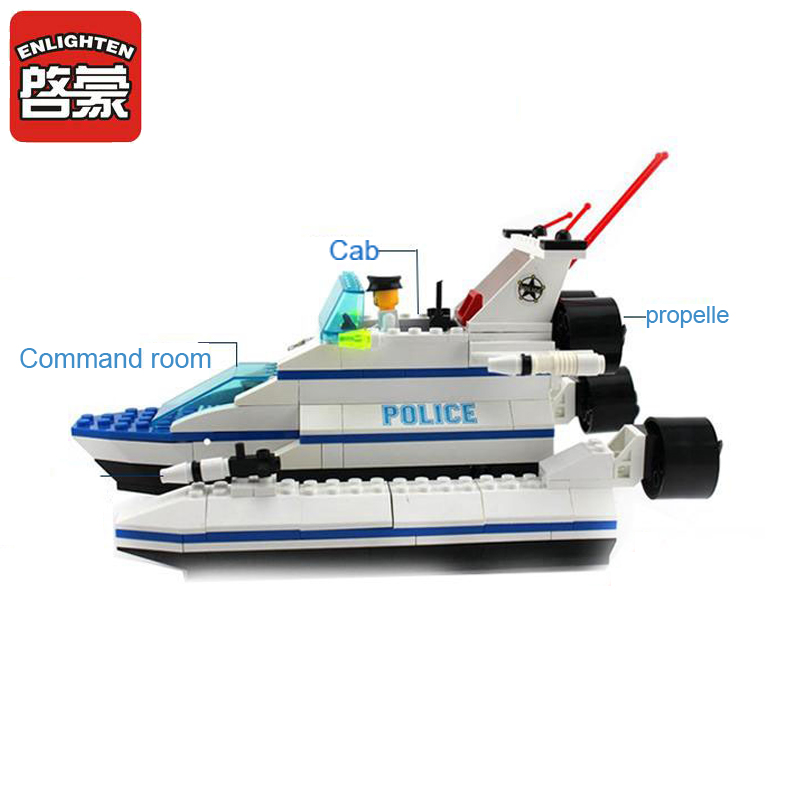 Lego thuyền cảnh sát - enlighten117