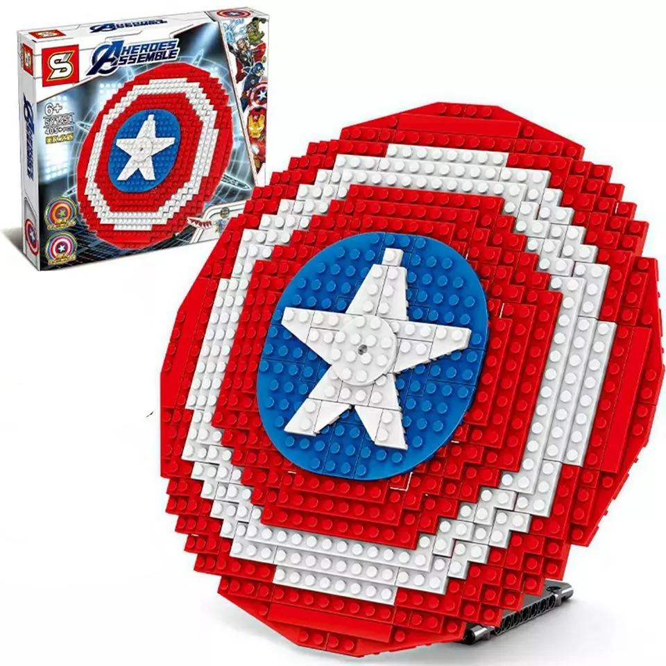 Lắp ráp lego Khiên Của Siêu Anh Hùng Capatain America 405 Chi Tiết - SY1454