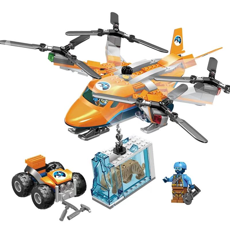Bộ đồ chơi lắp ráp Lego Cities Máy bay cứu hộ - Lele 28023