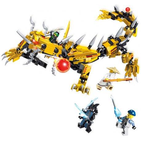 Lắp ráp Ninja Rồng Sấm Sét mầu vàng - LELE 31066