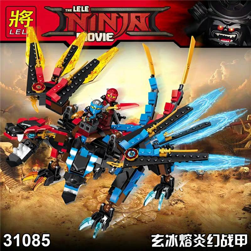 Lắp ráp Ninja Rồng Sấm Sét mầu Xanh 403 chi tiết - LELE 31085