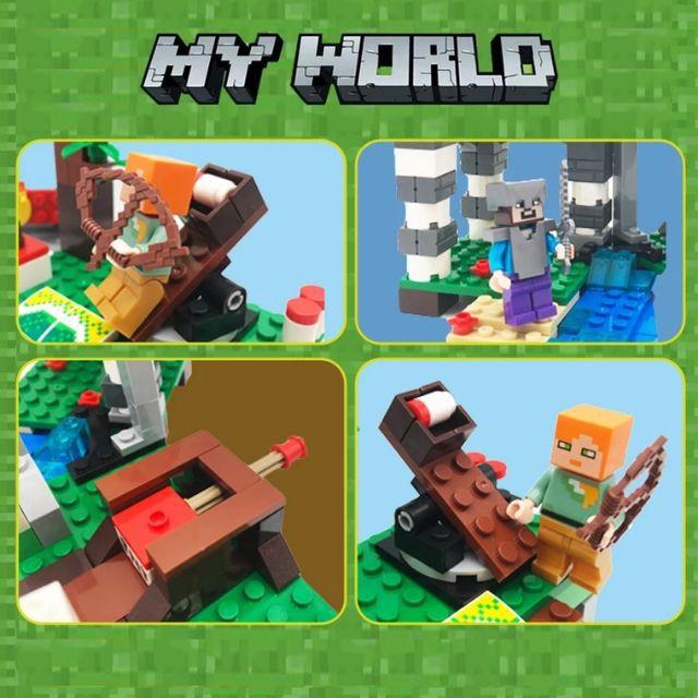 Đồ chơi lắp ráp Lego my world Ngôi TẤN CÔNG TRẠM RỒNG 323 chi tiết - Lele 33162