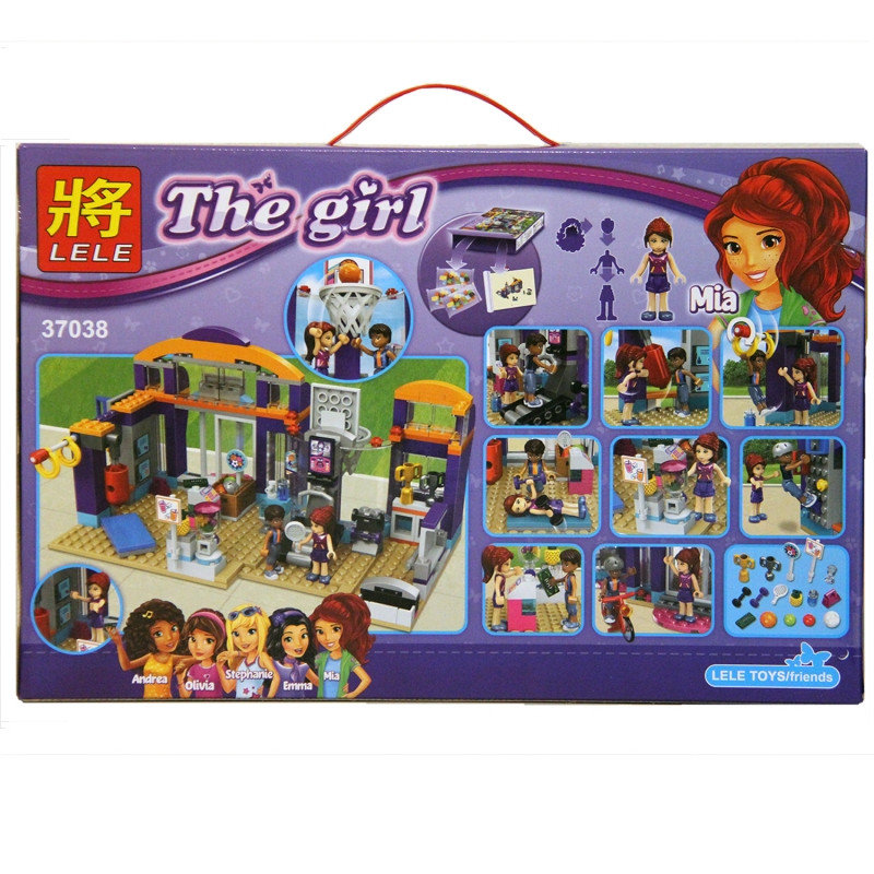 Lắp ráp lego Friends Trung tâm thể thao thể thao Heartlake 338 chi tiết - LELE 37038