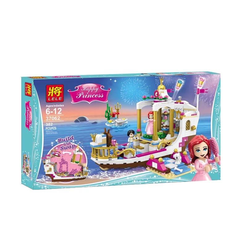 Lắp ráp Lego Du Thuyền Hoàng Gia Của Nàng Tiên Cá - Lele 37062