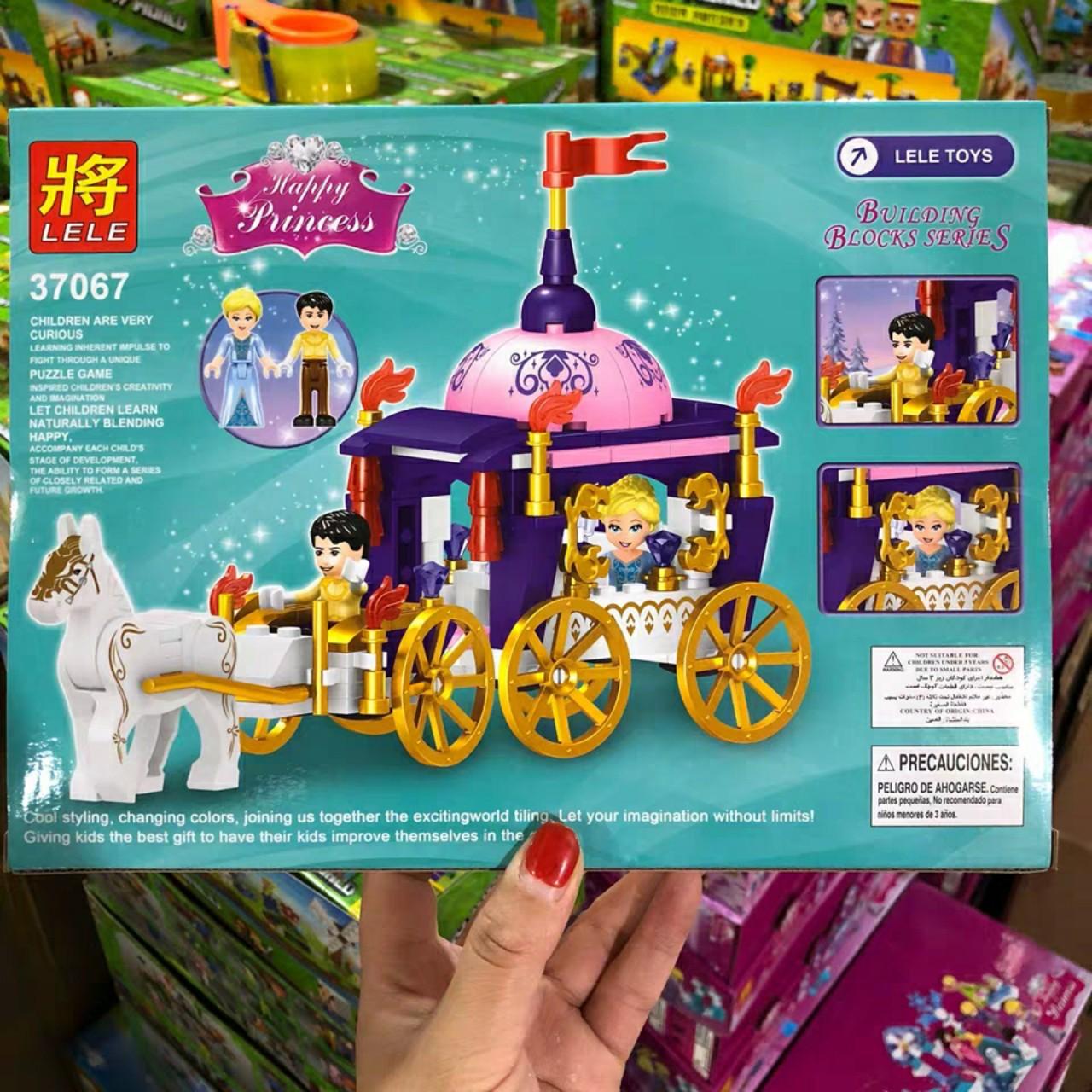 Lắp ráp Lego Xe Ngựa Hoàng Gia Của Elsa - Lele 37067