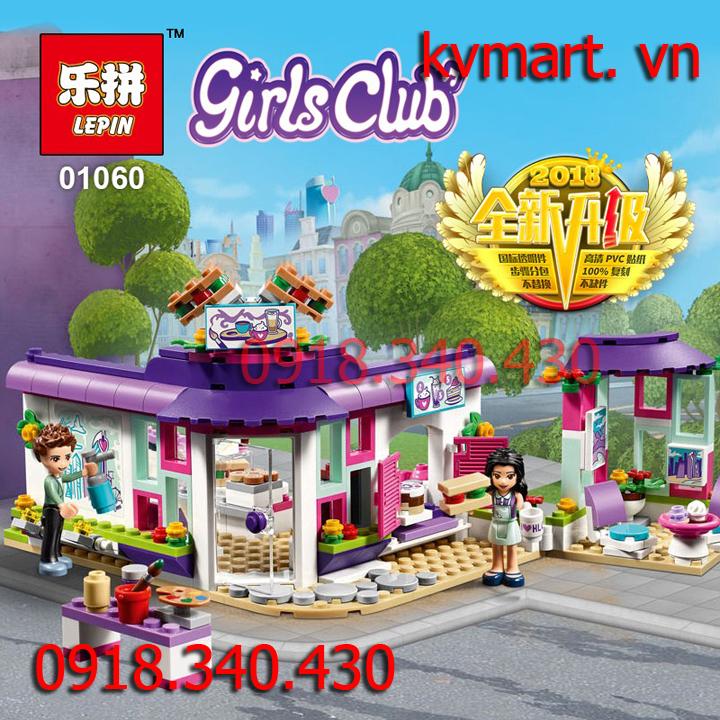 Lego Friends Tiệm Cà Phê Nghệ Thuật Của Emma - Lepin 01060