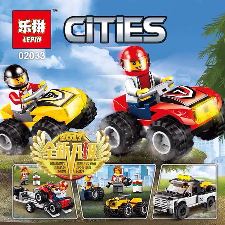 Đồ chơi lắp ráp xếp hình Đội đua xe moto ATV - LEPIN 02033