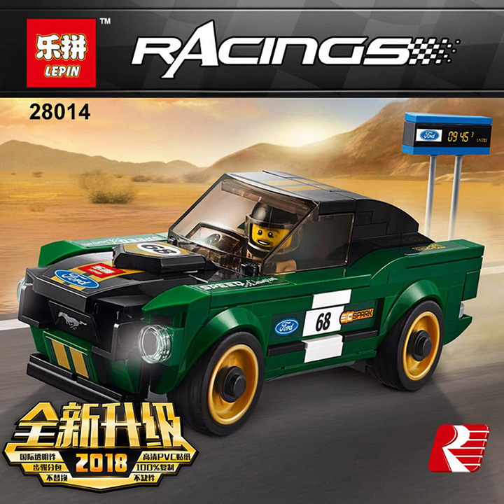 Lắp ráp Xe Ford Mustang Fastback 1968 - Lepin 28014