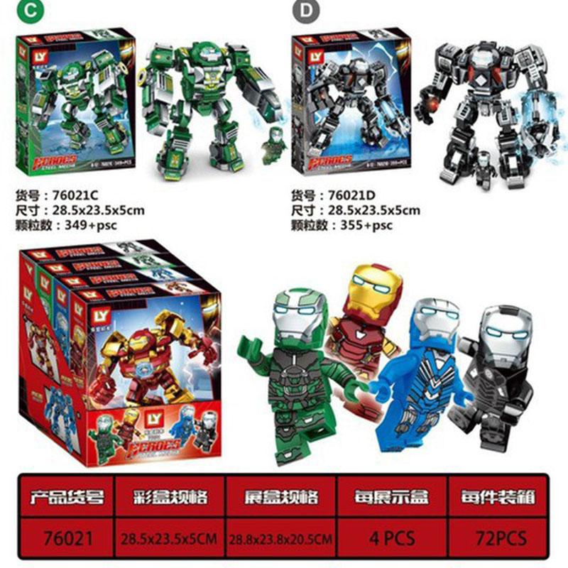 COMBO 4 Bộ Lắp Ráp Lego người sắt - LY76021