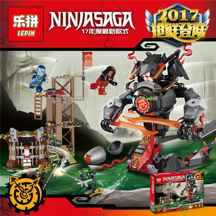 Lắp ráp Ninjago lepin 06042 - CUỘC GIẢI CỨU SƯ PHỤ KHỎI RẮN KHỔNG LỒ