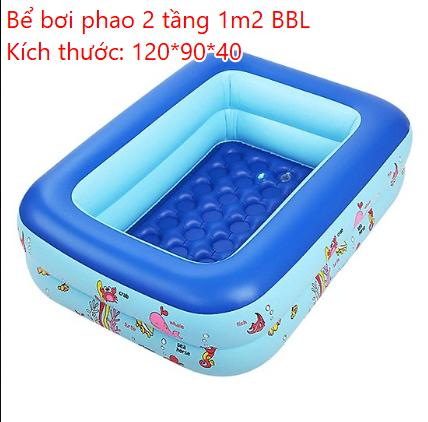 Bể bơi phao BBL hai tầng khổ 120 cm