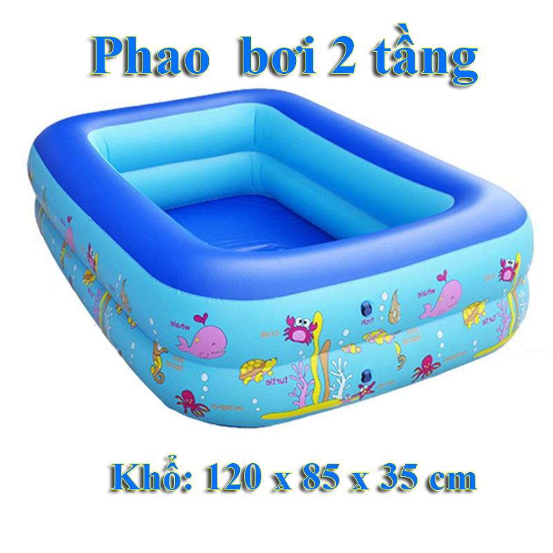 Bê bơi hai tầng khổ 120cm