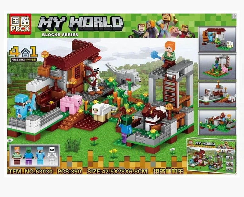 Đồ chơi lắp ráp Lego my world Nông trại 390chi tiết - PRCK 63030