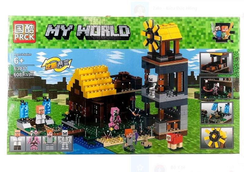 Đồ chơi lắp ráp Lego my world Cối xay gió 608 chi tiết - PRCK 63031
