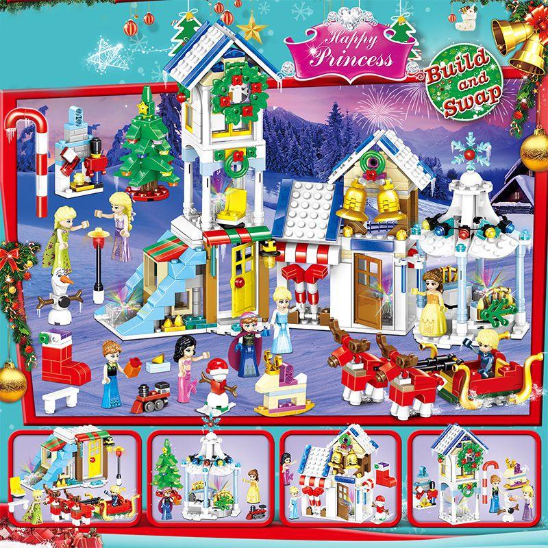 COMBO 4 Bộ Lắp Ráp Lego Căn Nhà Đón Giáng Sinh - PRCK 76010