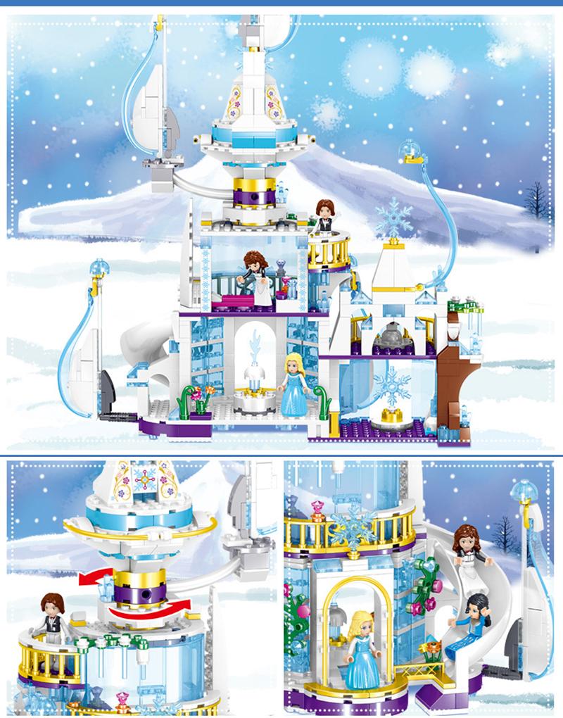 Đồ chơi Lego Lâu đài công chúa băng giá 617 chi tiết - ZHEGAO QL1142