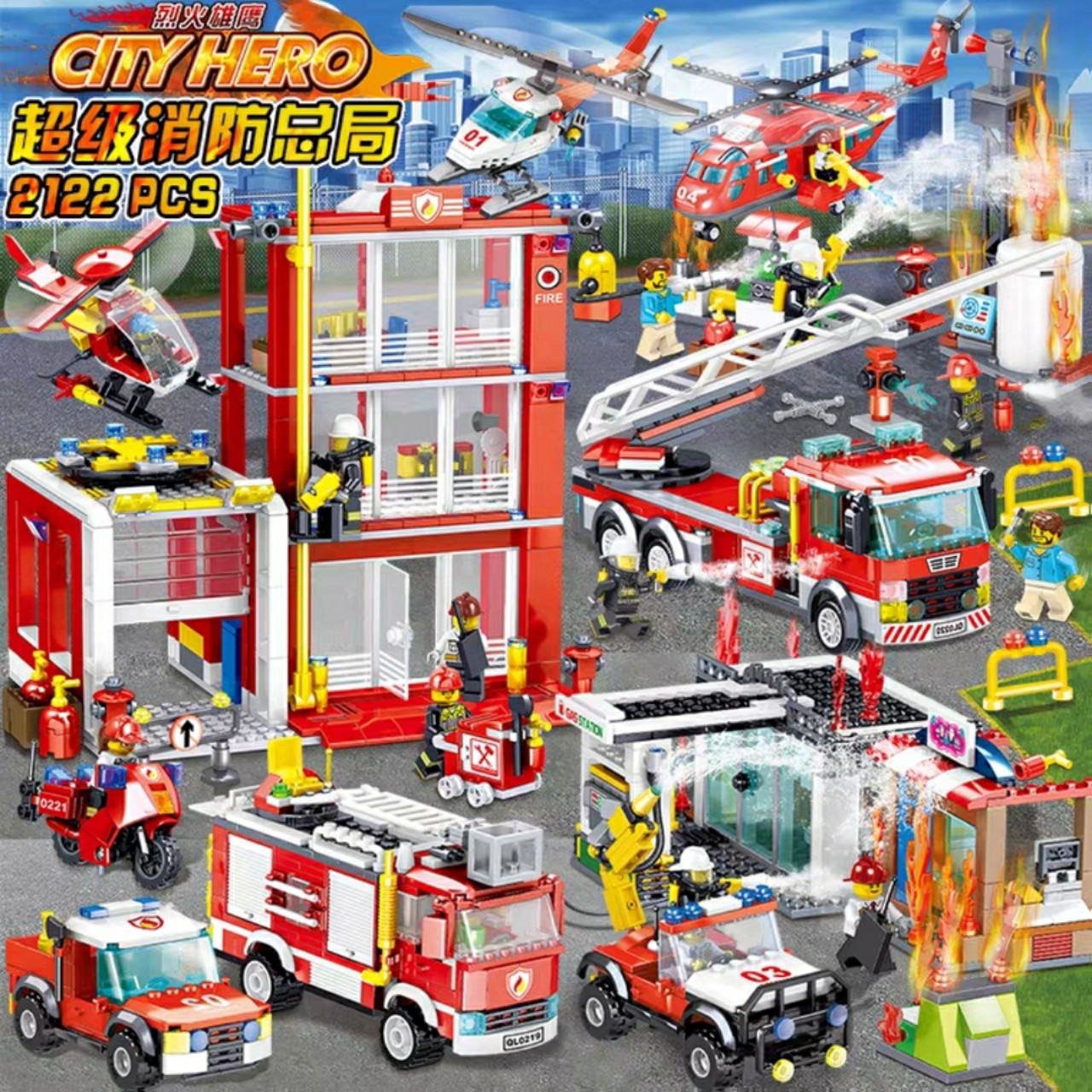 Lắp ráp Lego xe cứu hỏa -QL0219