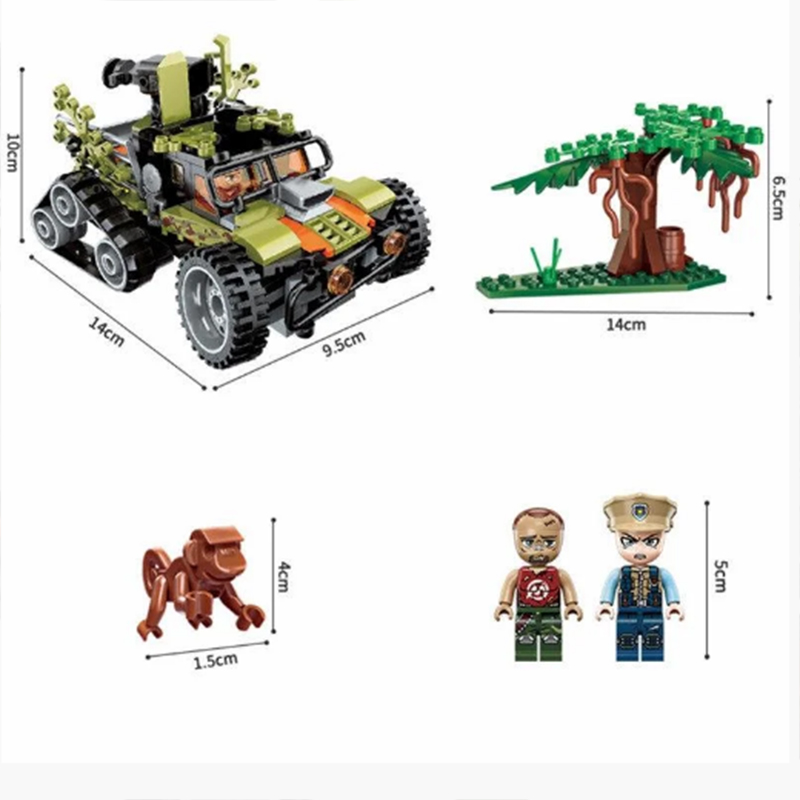 Lắp ráp Lego Giải Cứu Khỉ Con 227 Chi Tiết - QMAN 1921