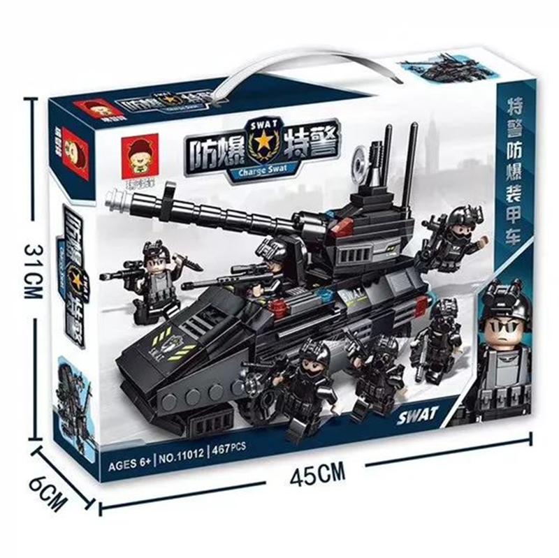 Lắp ráp lego Xe tanks Swat 467 Chi Tiết - 11012