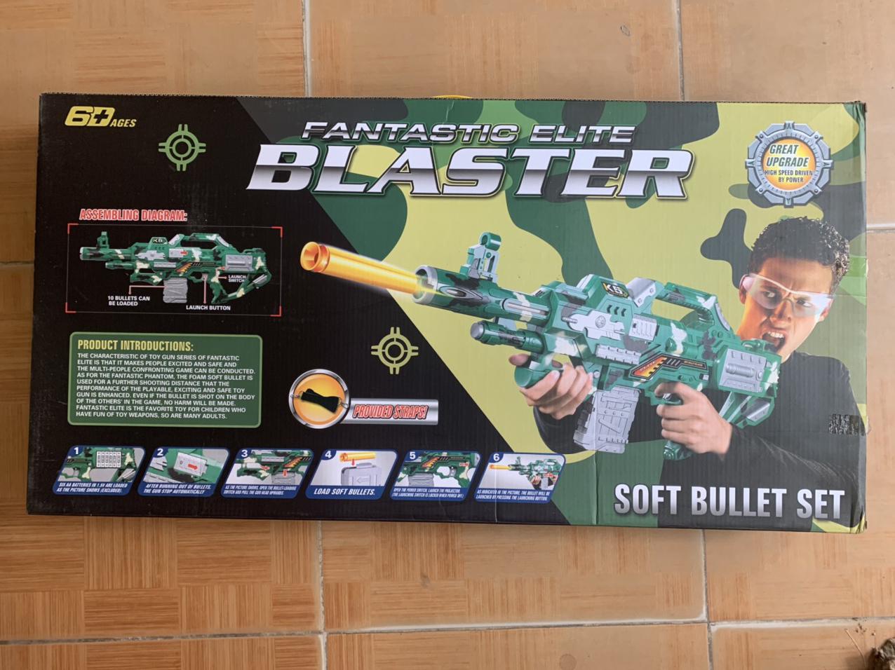 Đồ chơi NERF phóng thanh xốp mút kính - Blaster SB246