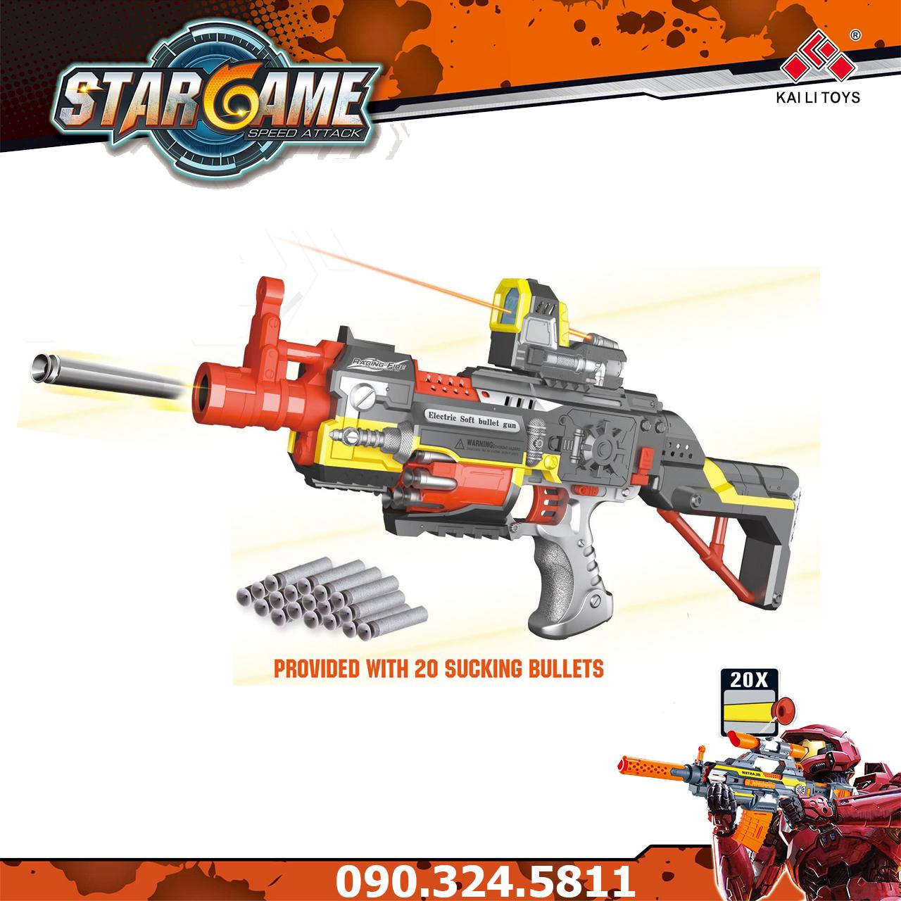 Đồ chơi súng bắn đạn xốp mút kính - Blaster SB418
